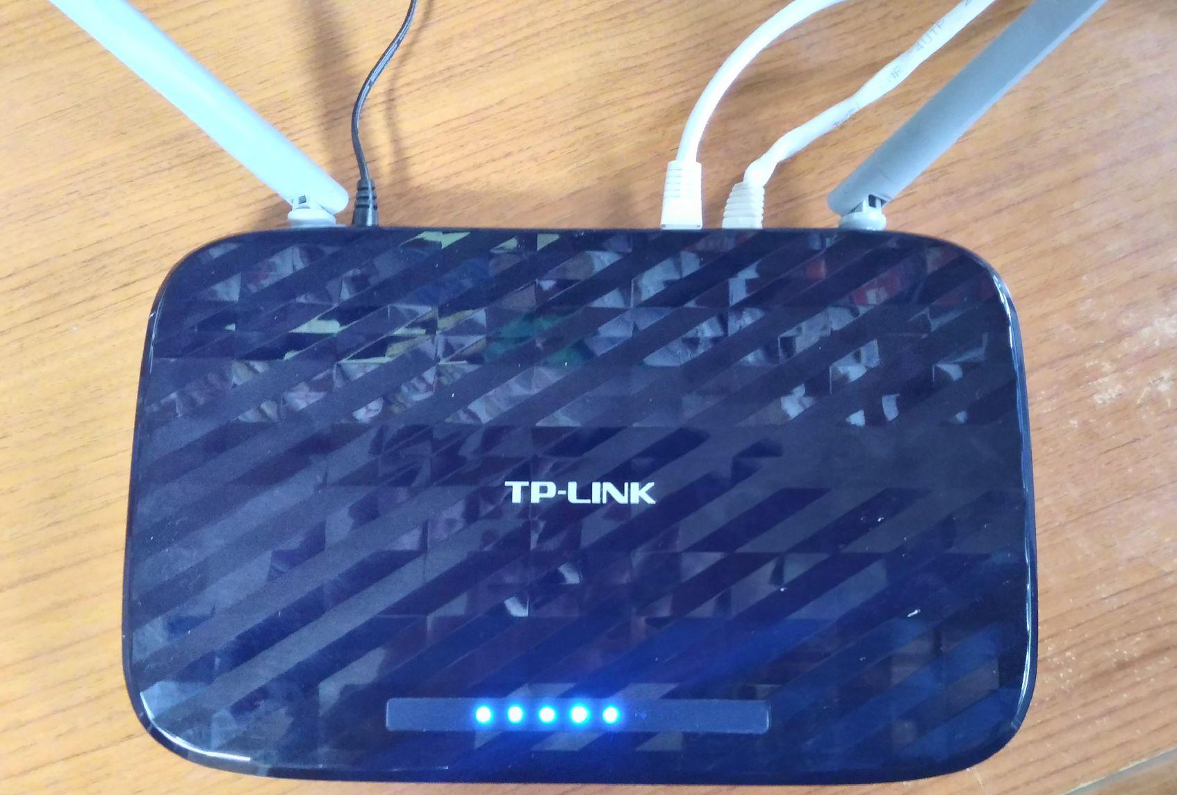 TP-Linkの無線LANルーター Archer C20 起動インジケーター