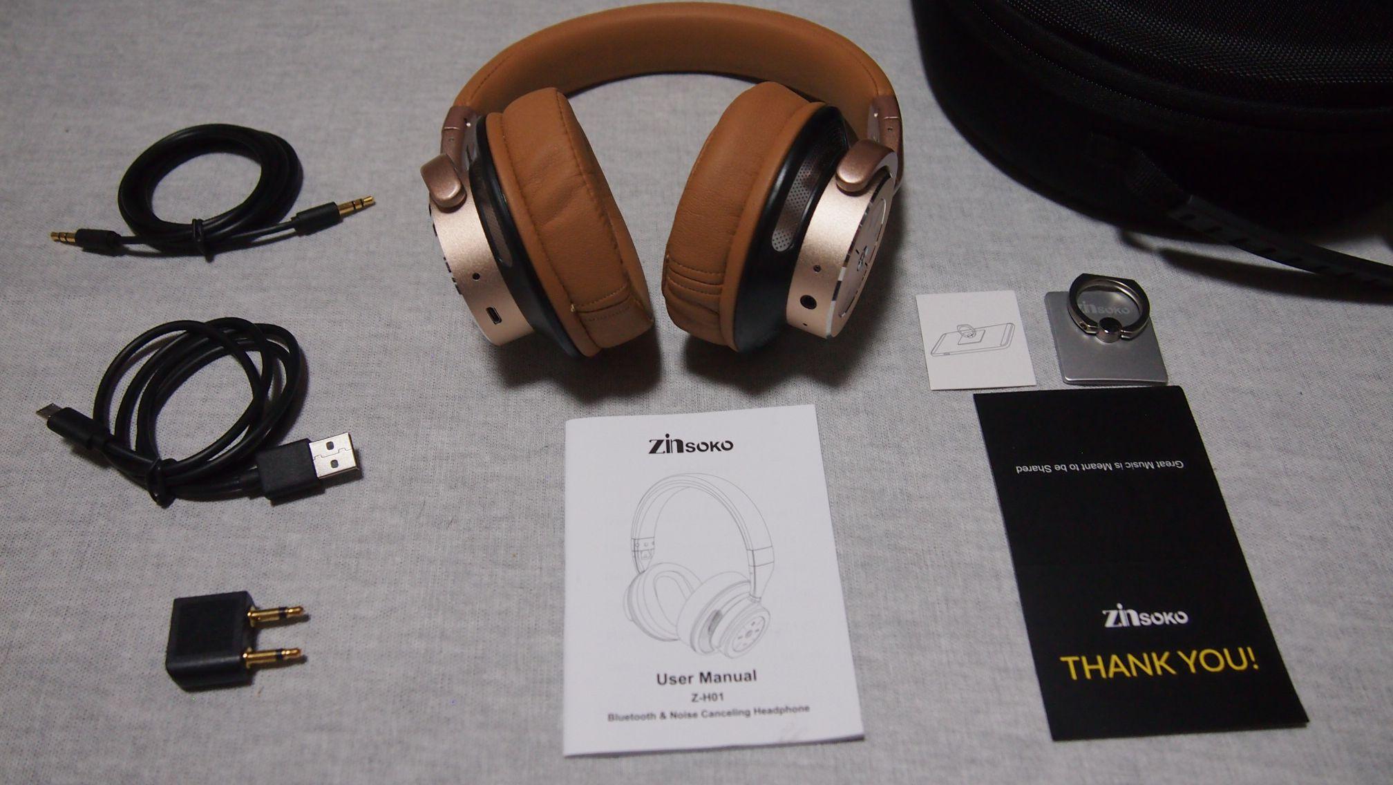Zinsoko Z-H01 bluetoothヘッドホン 付属品