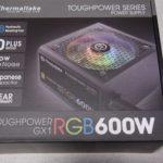 【サーマルテイクの神電源】TOUGHPOWER GX1 RGB GOLD 600Wをレビュー