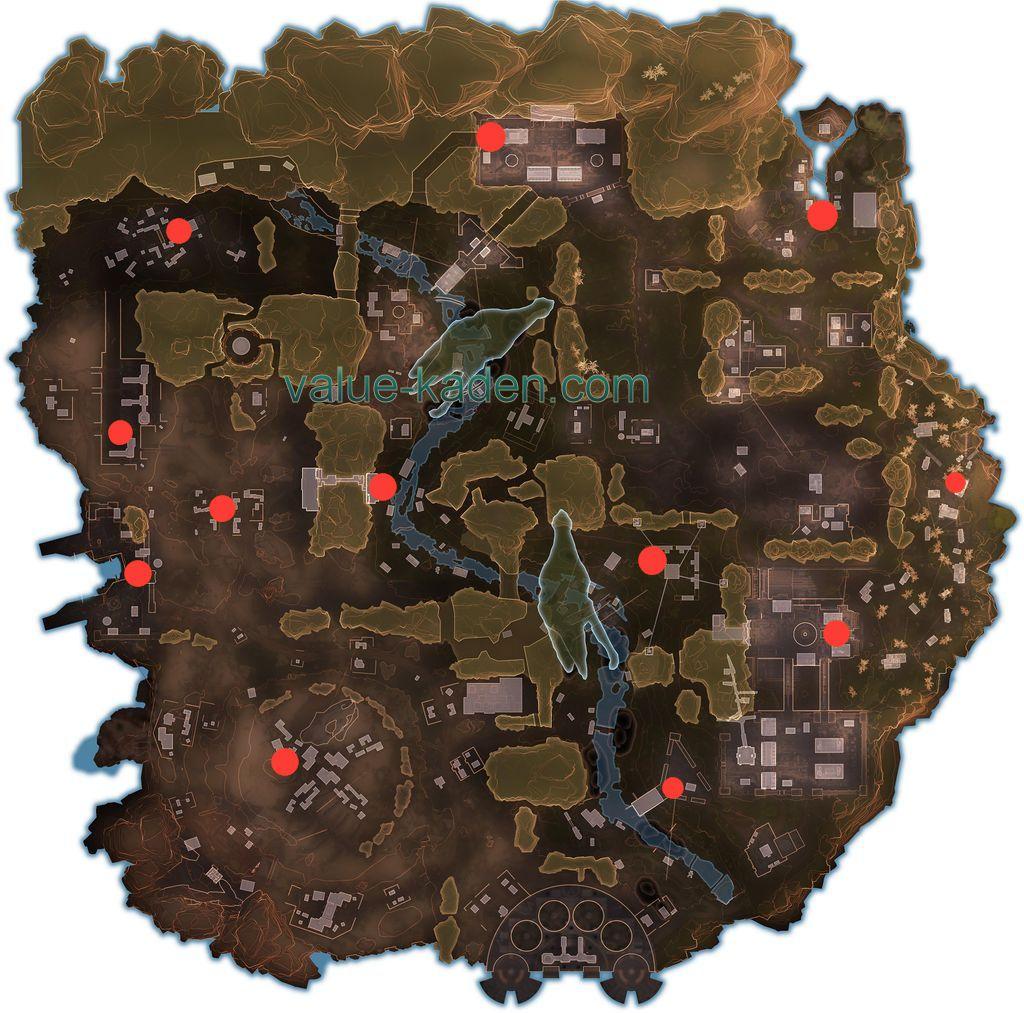 ファイトオアフライト 脱出船の出現ポイントマップ fight or flight evac ship location map