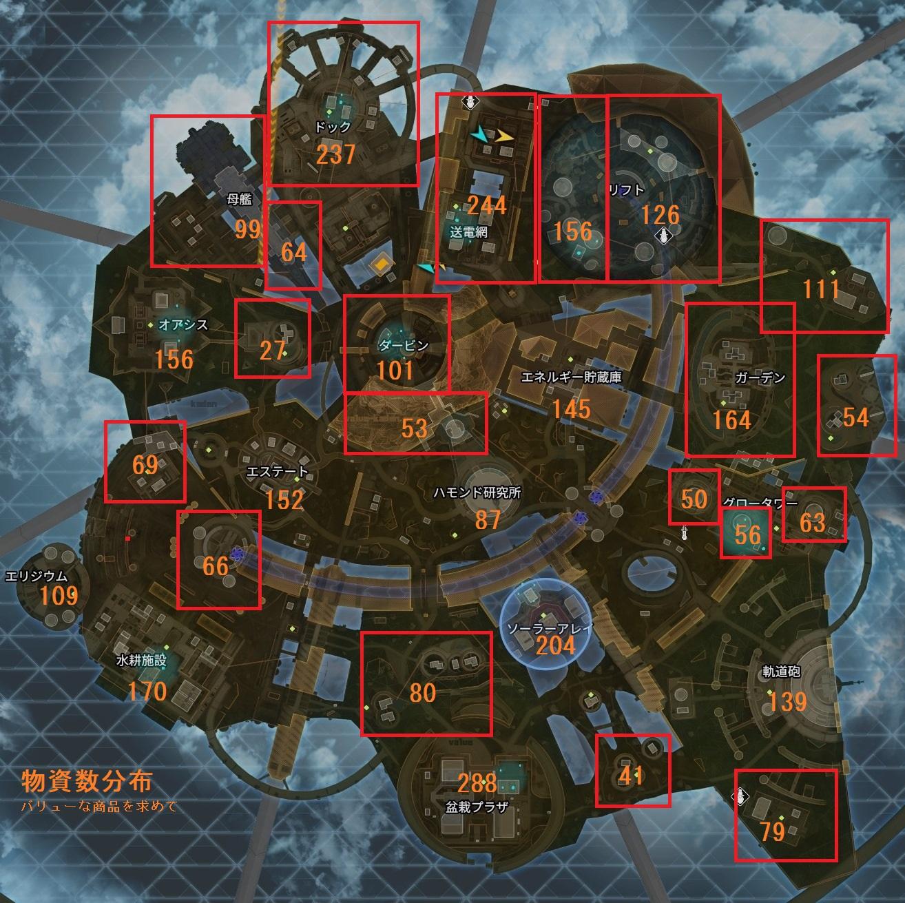 【Apex Legends】オリンパスの物資分布マップ